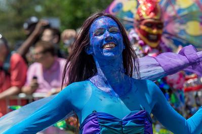 Blu and fun at the parade