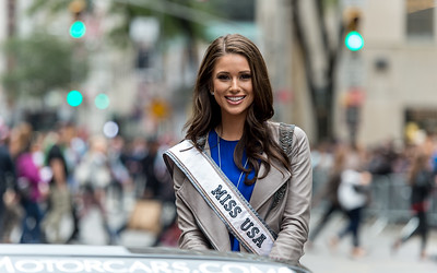 Miss USA Nia Sanchez from Nevada honoring the Italian-American heritage at the Columbus Day Parade.