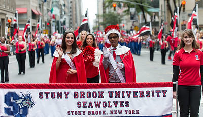 Homecoming King and Queen of the Stony Brook University Seawolves - Stony Brook, NY.