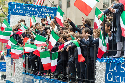 The Parade Float of La Scuola d'Italia, Guglielmo Marcony New York City