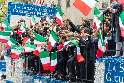 The Parade Float of La Scuola d'Italia, Guglielmo Marcony New York City
