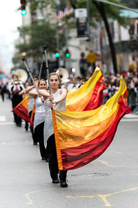 Flag thrower from the W. Tresper Clarke High School, Long Island, New York