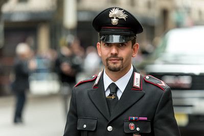 Members of the Italian Police - Carabinieri in honor of their 200th Anniversary.