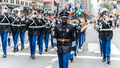 The West Point Marching Band kicks off the Parade
