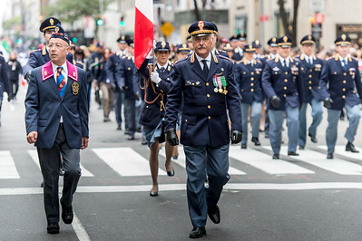 Italian State Police marching at the Columbus Day Parade