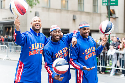 Red-carpet performers of the parade: The Harlem Globetrotters