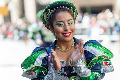 Beautiful dancer of the Caporales de San Simon.