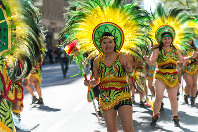 Bolivian dancers in the parade.