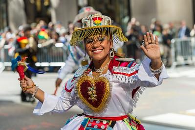 Dancers from the Fraternidad Sr. de Exaltation. Kullwada - Los Rebeldes, NY.