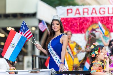 Deputy Queen headling the Paraguay float