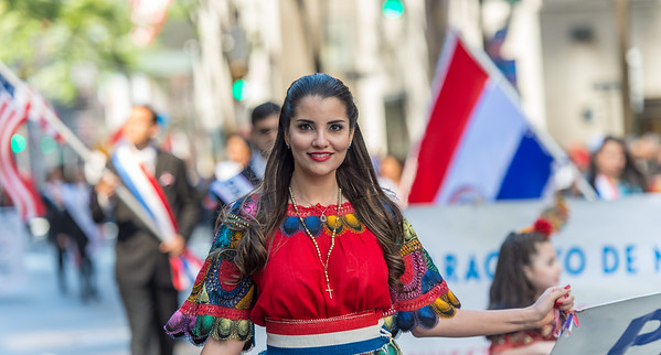 Leading the Paraguay Marchers