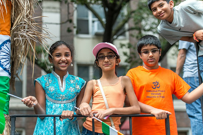"Children on the ""Universal Peace through Dharma & Yoga"" Float"