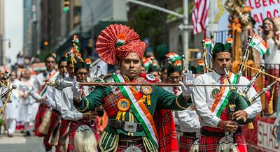 Leading the Swamibapa Pipe Band, New Jersey