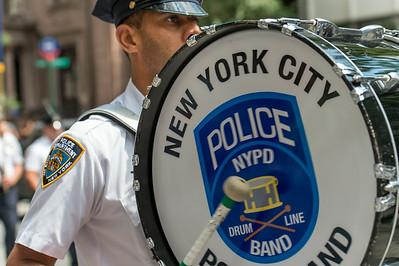 NYPD Marching at India Day Parade