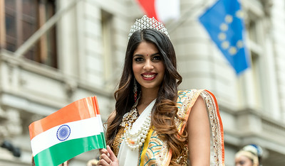 Beauty Queen celebrating the India Day Parade