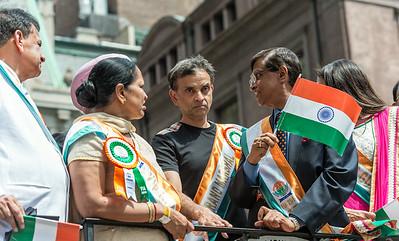 Vivek Ranadive - Parade Grand Marshal on the VIP Float