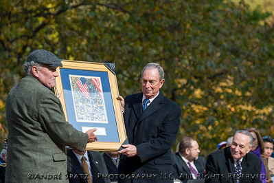 United War Veterans Council gift presented to Mayor Michael Bloomberg for his exemplary committment to the veterans in his 12 years as Mayor of NYC.