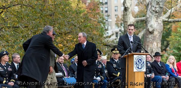 Anthony K. Odierno, Mayor Bloomberg and Mayor- elected Bill DeBlasio
