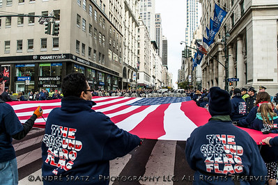The Ground Zero Flag on 5th Ave.