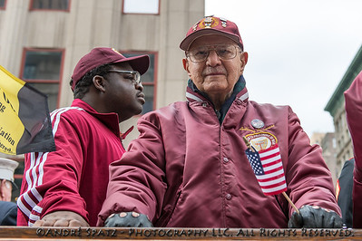 Veteran Anthony Vonacore POW at the 2013 Veterans Day Parade.