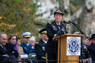 Parade Grand Marshal and U.S. Army Gen. Ann E. Dunwoody (ret.), the first woman to achieve four-star rank in any U.S. military service, and former U.S. Secretary of Veterans Affairs at the opening ceremony.