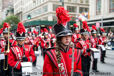 Red Devils from the Hinsdale Central High School Marching Band. Hinsdale, IL