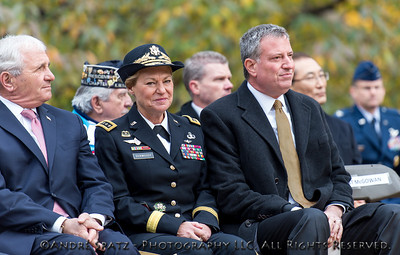 Parade Grand Marshal and U.S. Army Gen. Ann E. Dunwoody (ret.), NYC Mayor -elected Bill DeBlasio and ANTHONY PRINCIPI- Grand Marshal