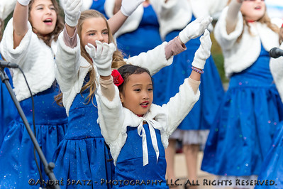 Las Vegas Private school performing before the opening ceremony of the Veterans Day Parade.