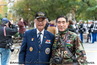 Korea & Vietnam Veterans at the NYC Veterans Day Parade.