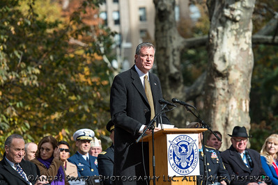 New York City Mayor -elected Bill DeBlasio at the Memorial Day Parade Opening Ceremony