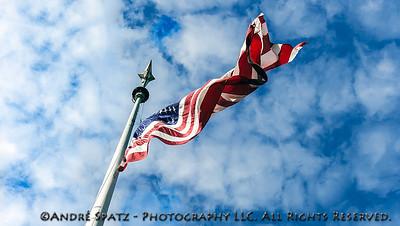 The Flag at the Eternal Light Monument - Madison Square Park, New York City - 11/11/2013