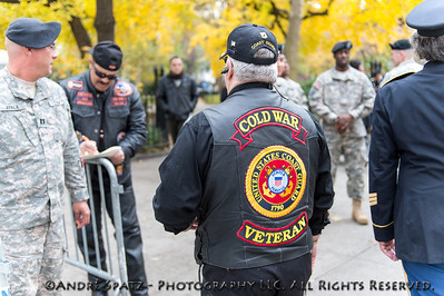 Veteran at the Veterans Day parade NYC 2013