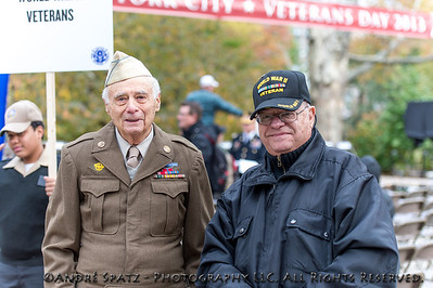 WW II Veterans at the Veterans Day parade NYC 2013