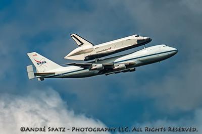 Space Shuttle Enterprise over New York City
