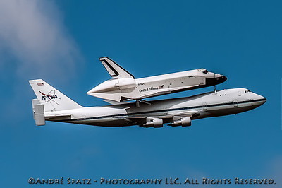 Space Shuttle Enterprise over New York City