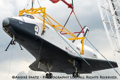 Lifting the Space Shuttle Enterprise
