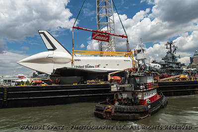 Getting ready to lift the Space Shuttle Enterprise