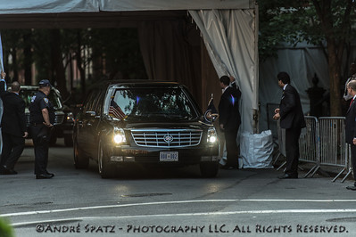 The President limousine in front of S.J. Parker's house in the West Village, NYC