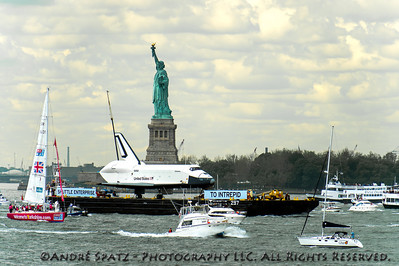 The Space Shuttle Enterprise and Lady Liberty