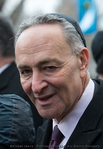 "NY Senator Charles ""Chuck"" Schumer at the end of funeral services for Ed Koch"