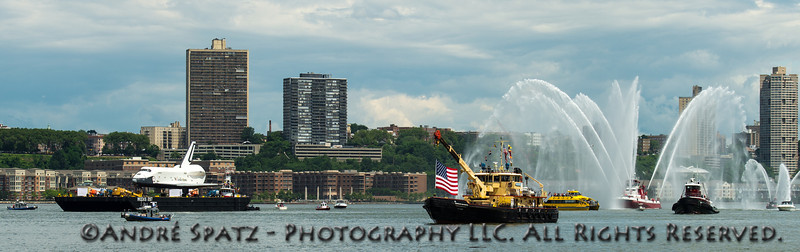 FDNY welcomes the Space Shuttle Enterprise to NY Harbor