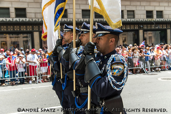 Honor Guard, Providence Police Department, take part in the parade.