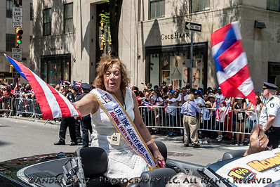 The Life Time Achievement Award recipient Dr. Aida Rosa during the parade.