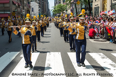 Banda Escolar S.U. Macana of Guayanilla during the parade.