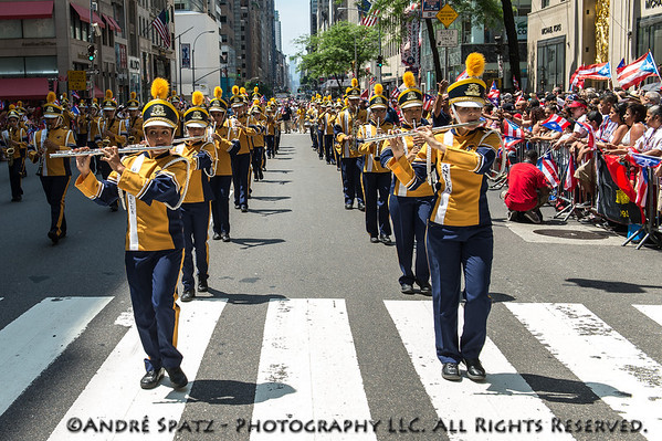 Banda Escolar S.U. Macana of Guayanilla during the parade.