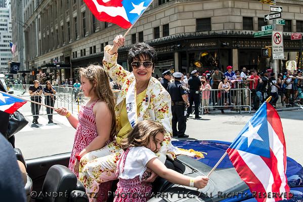 The parade's Grand Marshal -Tony Award-winning actress and singer Chita Rivera during the parade.