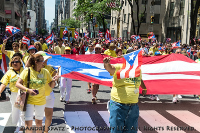 Scene from the Puerto Rican Day Parade in NYC.