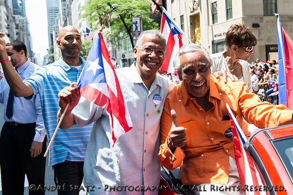 United States Congressman Charles Rangel (D-NY) and Robert Jackson -NYC District 7 - Council Member (D)
