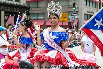 Miss Bella Hispana 2012 of Springfield, MA, during the parade.
