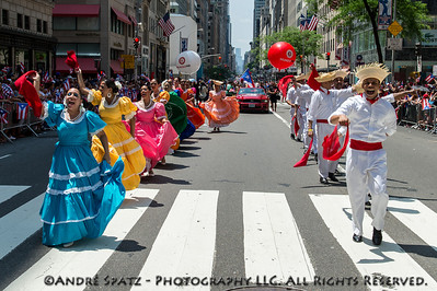 Scene from the Puerto Rican Day Parade in NYC